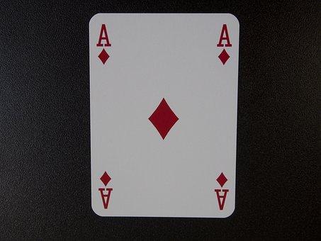 As, Diamonds, Chance, Luck, Trumpf, Play, Card Game