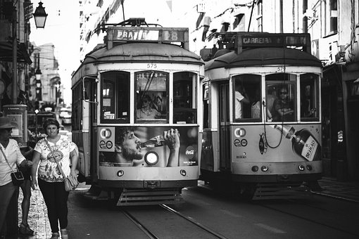 Lisbon, Train, Portugal, Europe, Transportation