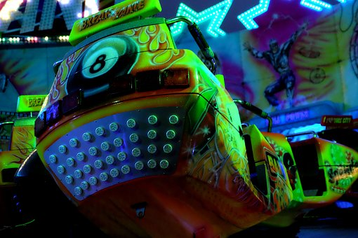 Fair, Attraction, Manege, Fairground, Colors