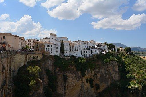 Ronda, Andalusia, Rocky Plateau, Gorge, Spain