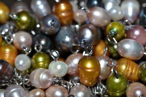 Jewelry, Beads, Pearls, Colorful, Pink, Yellow, Green