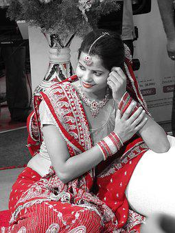 Bride, Indian Bride, Traditional, Wedding, Indian, Girl