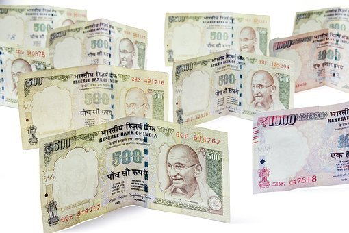 Money, Moneycity, 500, Rupees, Notes, Cash, Income