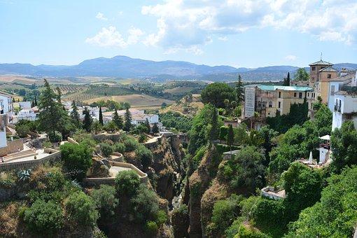 Andalusia, Old Town, Bridge, Ronda, Hill City