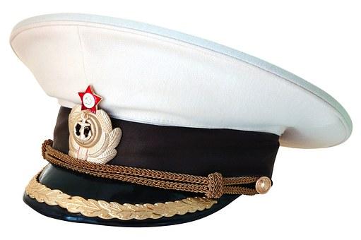 Peaked Cap, Captain, Navy, Russia, Cockade, Sea