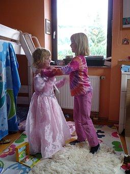 Children, Children's Room, Play, Dress Up