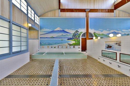 Japan, Building, Public Bath, Public Baths, Tokyo