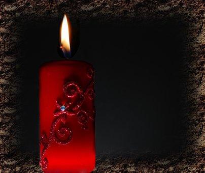 Candle, Light, Bill, Red, Angel, Black, Old Light