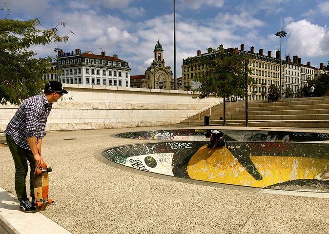 Skateboard, Man, Fun, Leisure, Sport, Clouds, Halfpipe