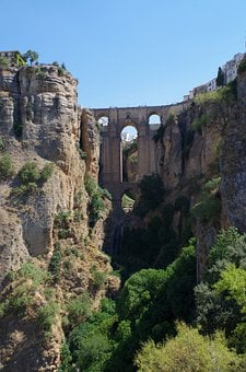 Ronda, Bridge, Gorge, Abyss, Spain, Andalusia