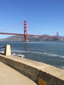 Golden Gate Bridge, San Francisco, Ocean, Landmark