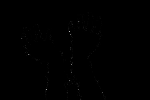 Silhouette, Hands, Handcuffs, Black, Human, Shadow