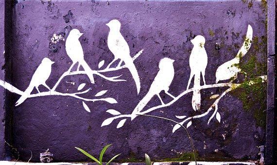 Birds, Mural, Graffiti, Wall, Painting, Decoration