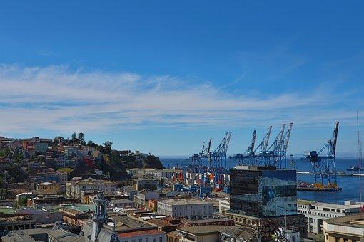 Valparaiso, Chile, Port, City, Bay, Sea, Water