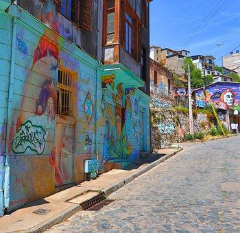 Valparaiso, Chile, Street Art, City, Streets, Graffiti