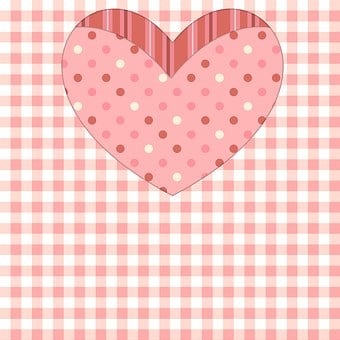 Pink, Girl, Gingham, Blocks, Heart, Scrapbook, Collage