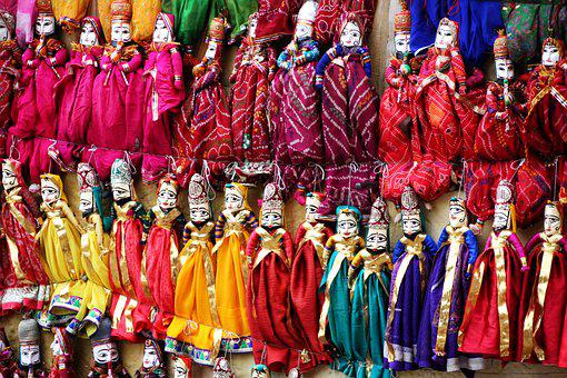 Puppet, India, Jaipur, Doll, Tradition, Souvenir
