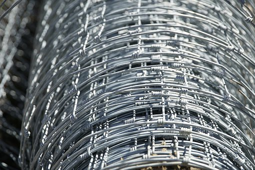Fence, Wire, Roll, Fencing, Mesh, Zinc, Close Up