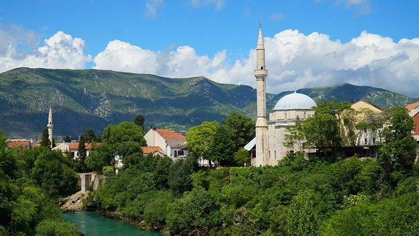 Mostar, The Balkans, Cami, Bosnia And Herzegovina
