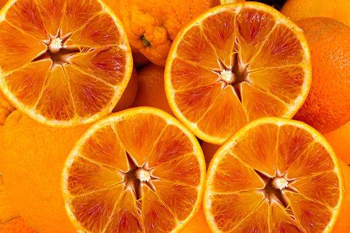 Background, Pattern, Eat, Orange, Food, Disc, Fruit