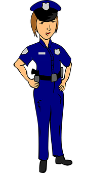 Police Officer, Female, Police, Woman, Blue, Uniform