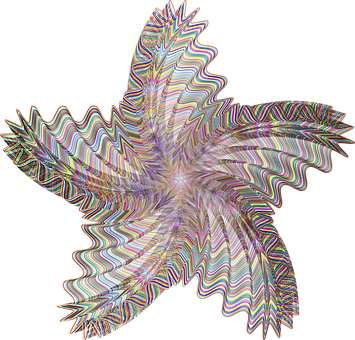 Star, Geometric, Line Art, Psychedelic, Surreal