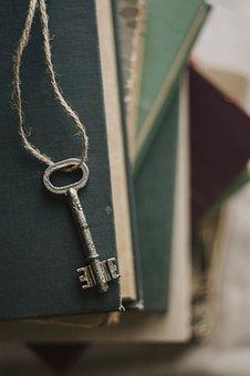 Key, Unlock, Books, Book, Symbol, Table, Vintage, Retro