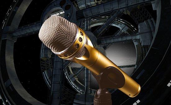 Microphone, Music, Sing, Talk, Speech, Technology