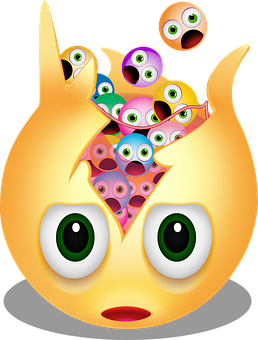 Graphic, Emoticon, Exploding, Exploding Head, Burst