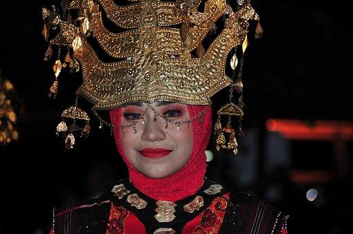 Carnival, Girl, Indonesian, Mask, Fun, Female, Festival