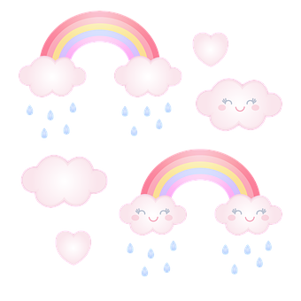 Cloud, Rain, Conditions, Rainbow, Colors, Rainy, Cute