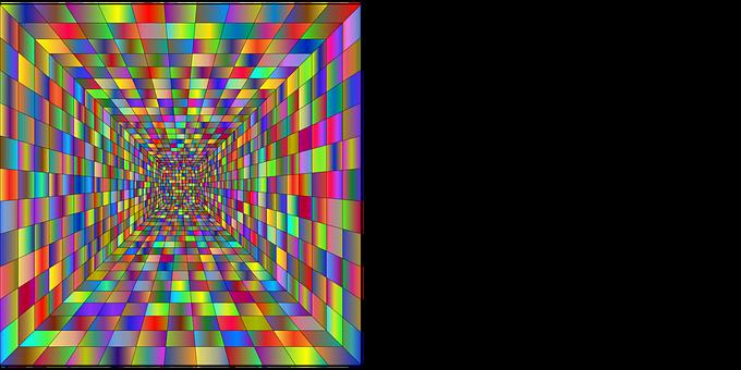 Perspective, 3D, Grid, Hallway, Corridor