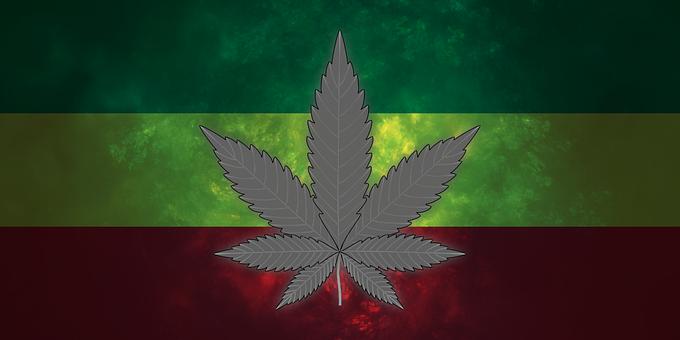 Marijuana, Cannabis, Rasta Flag, Hemp, Medical, Drug