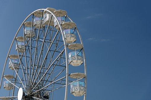 Ferris Wheel, Carousel, Fun, Entertainment, Tall