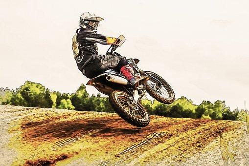 Motor Sport, Motorcycle, Motocross