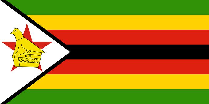 Zimbabwe, Flag, National, Seven, Stripes