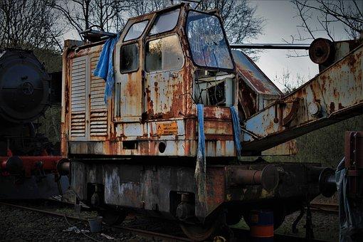 Railway, Railway Museum, Scrap, Steel, Metal