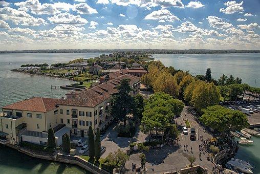 Italy, Sirmione, Garda, Summer, Italian, Architecture