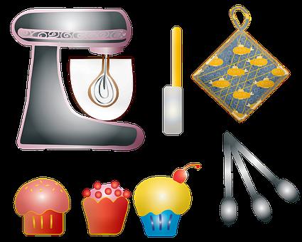 Baking, Flour, Sugar, Blender, Mixer, Cupcake