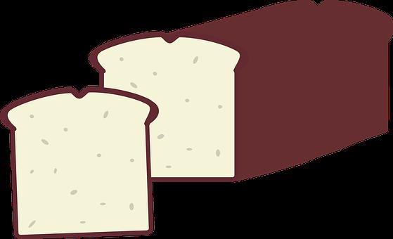 Bread, El Pan, Loaf, White, Brown, Slice