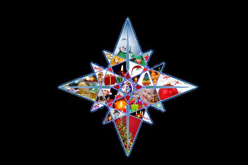 Christmas, Star, Poinsettia, Children, Joy