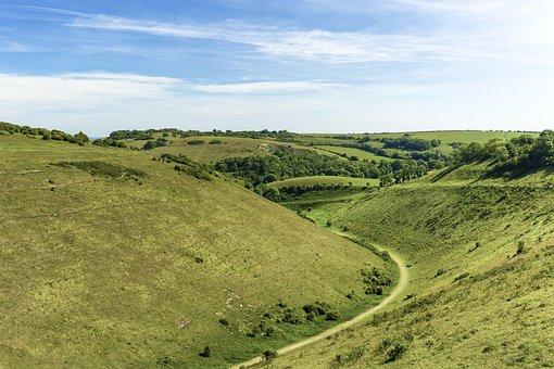 Devils Dyke, Sussex, Chalk, Cretaceous Period, Erosion