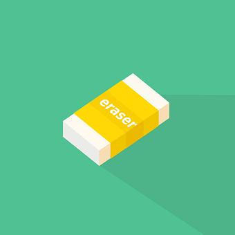 Eraser, Design, Icon, Isolated, Flat, School, Symbol