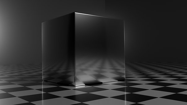 Metal, Cube, Silver, 3d, Metallic, Rendering, Abstract