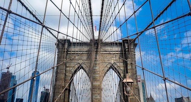 Nyc, Usa, Brooklyn Bridge, Manhattan, City, America, Ny