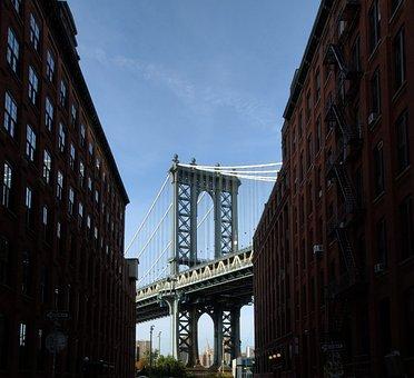 Usa, Nyc, Manhattan Bridge, America, Architecture