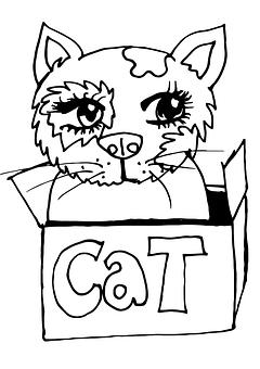 Ice Cream, Cat, Drawing, Fine Art, Pen