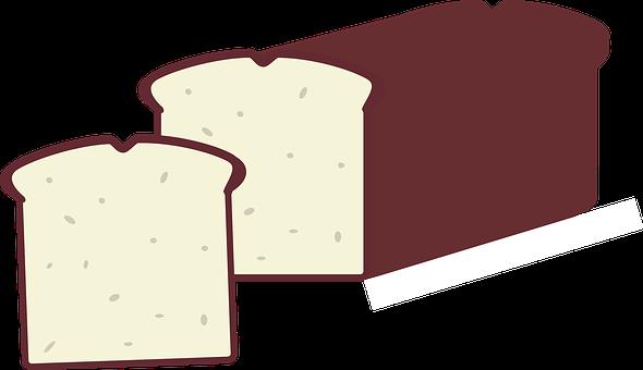 Bread, Brown, White, El Pan, Loaf, Slice