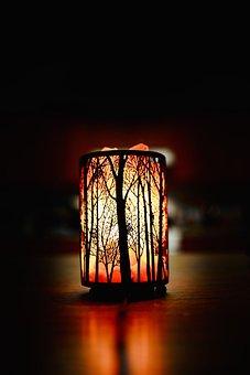 Lamp, Lights, Lighting, Glow, Shadow, Night