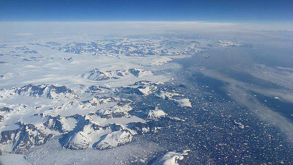 Greenland, View, Height, Aircraft, Altitude, Ice, Ocean